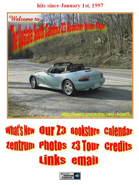 The Upstate South Carolina Z3 Roadster Home Page